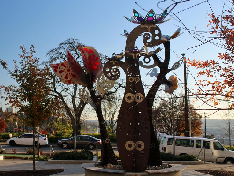Sculpture at Yesler Park