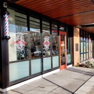 Earl's Cuts and Styles storefront in Liberty Bank Building